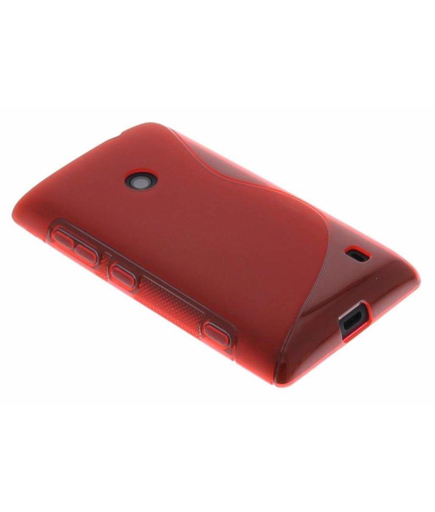 Rood S-line TPU hoesje Nokia Lumia 520 / 525