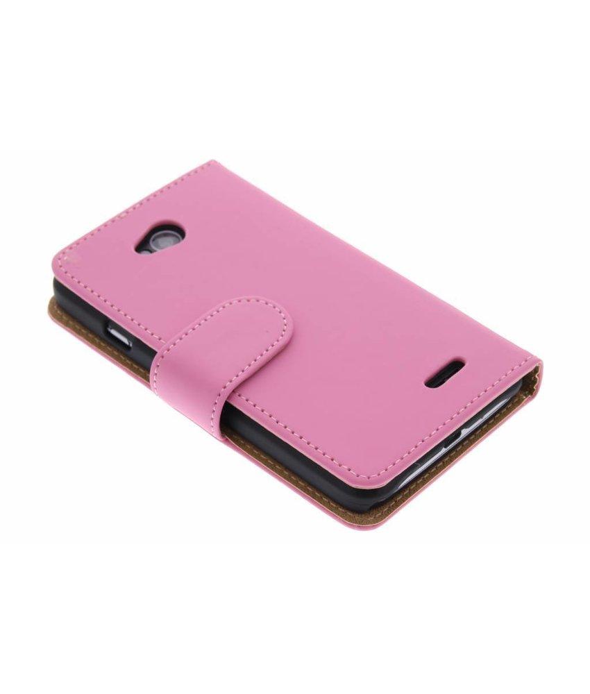 Roze effen booktype hoes LG L70