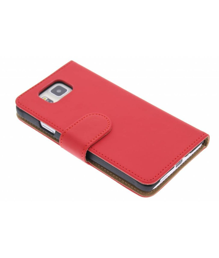 Rood effen booktype hoes Samsung Galaxy Alpha
