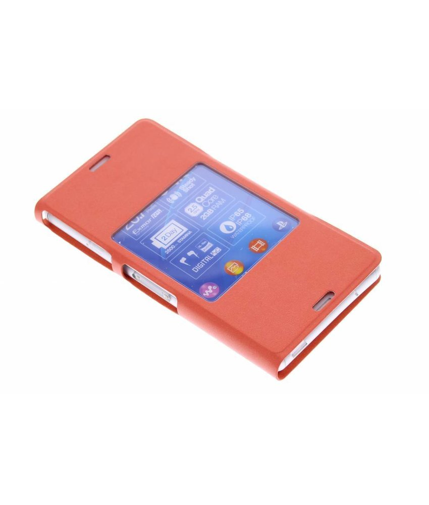 Sony Style Cover Sony Xperia Z3 Compact - oranje