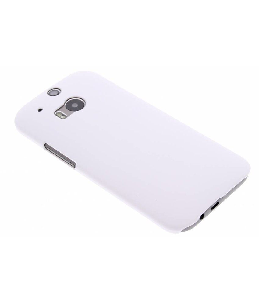 Wit effen hardcase HTC One M8 / M8s