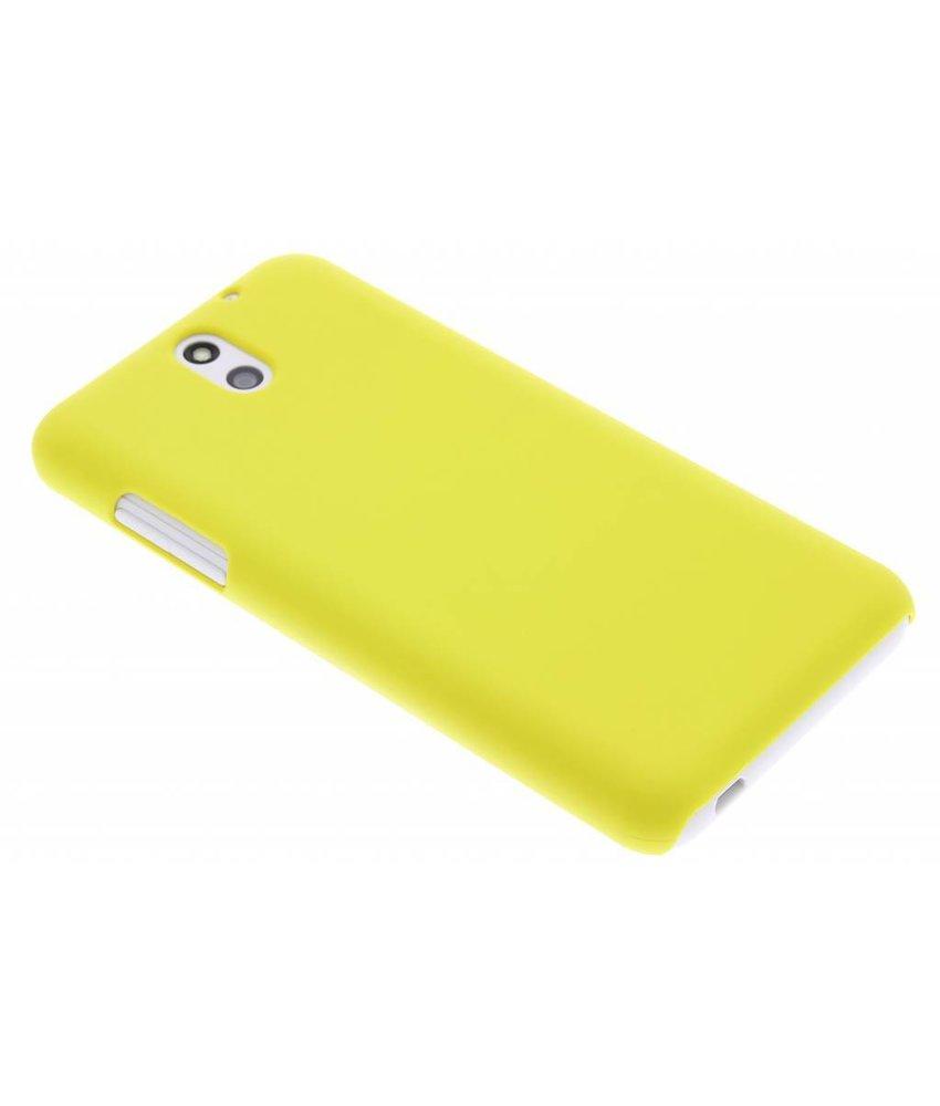 Geel effen hardcase hoesje HTC Desire 610