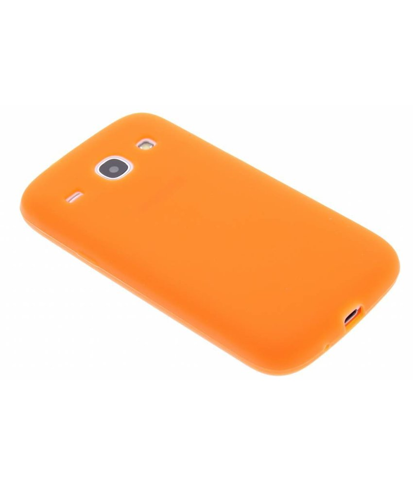Oranje siliconen hoesje Samsung Galaxy Core