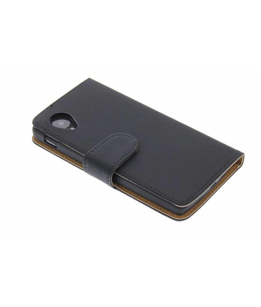 Zwart effen booktype hoes LG Nexus 5