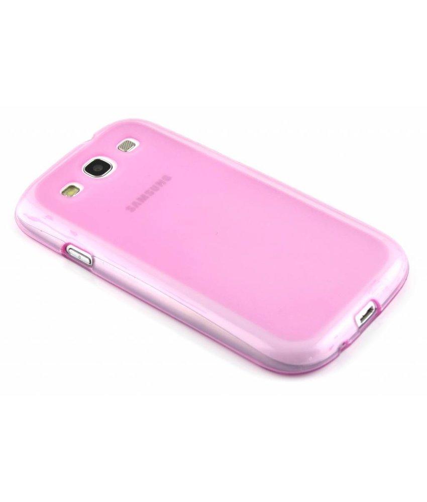Roze hard siliconen hoesje Galaxy S3 / Neo