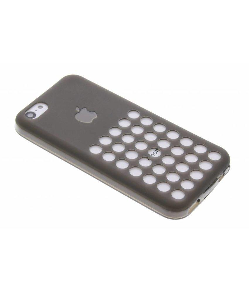 Donkergrijs cirkeldesign siliconen hoesje iPhone 5c