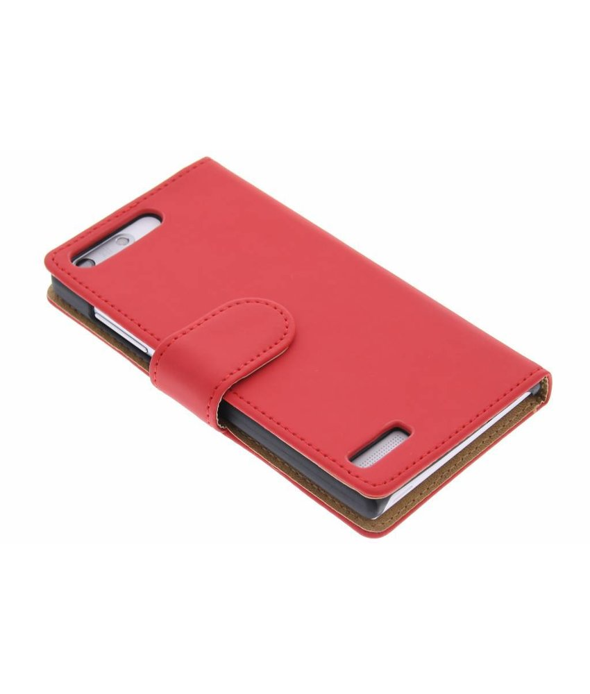Rood effen booktype hoes Huawei Ascend G6