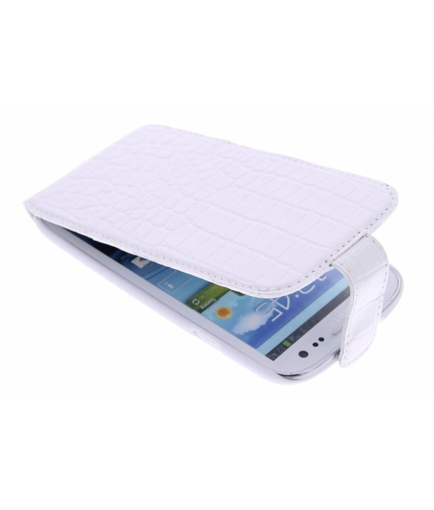 Valenta Flip Croco Samsung Galaxy S3 / Neo - wit