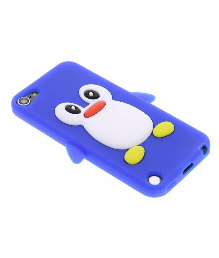 Blauw pinguin siliconen hoesje iPod Touch 5g / 6