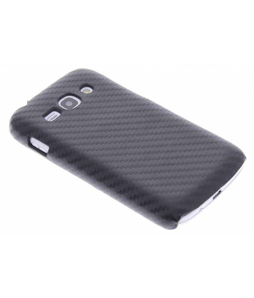Zwart carbon look hardcase Samsung Galaxy Ace 3