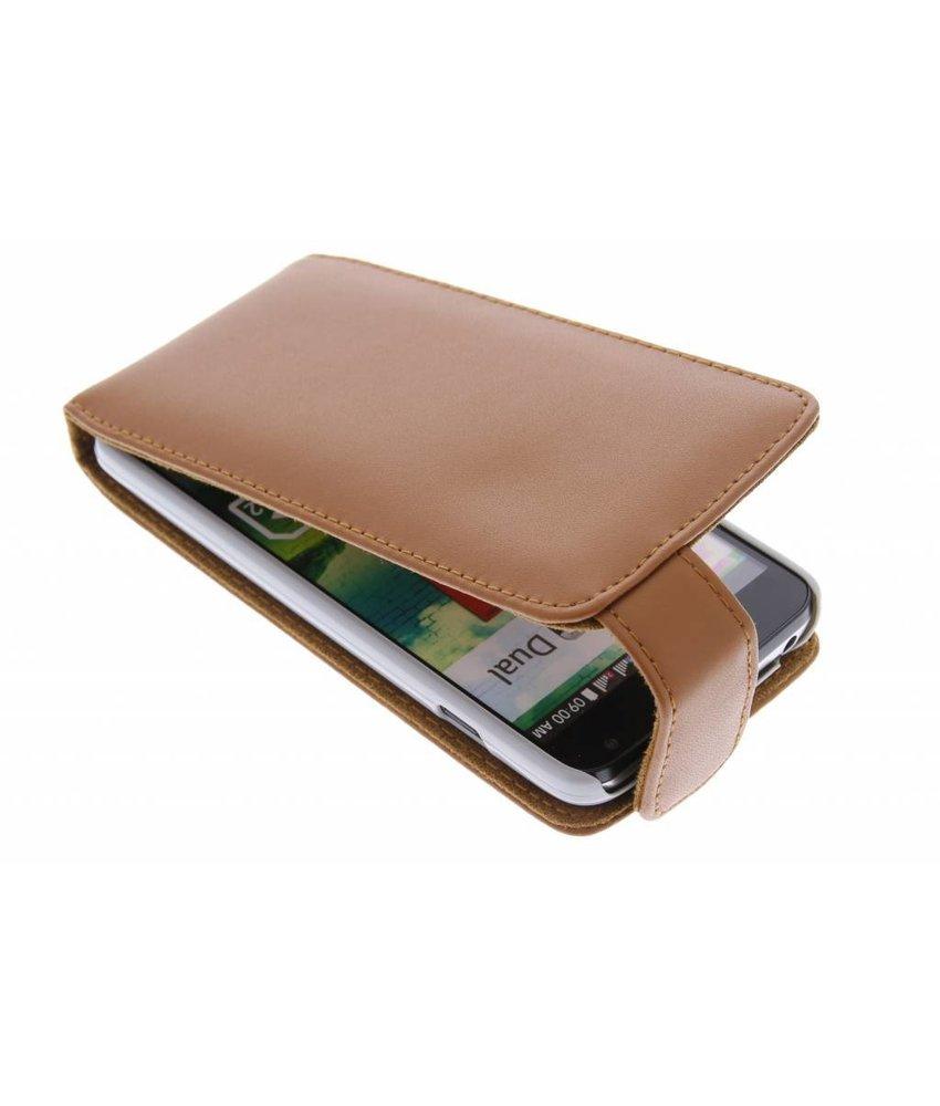 Bruin stijlvolle flipcase LG L90