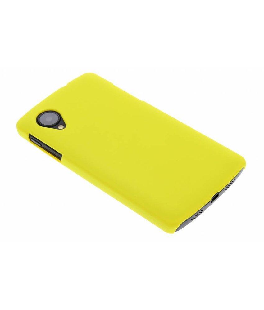 Geel effen hardcase hoesje LG Nexus 5