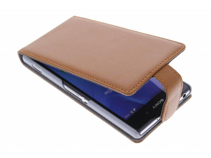 Brown Cas Flip Élégant Pour Sony Xperia Z2 2efP7WKCR8
