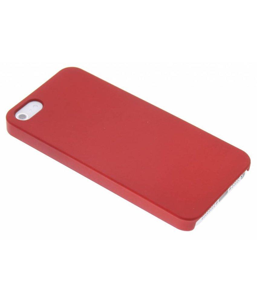Rood effen hardcase iPhone 5 / 5s / SE