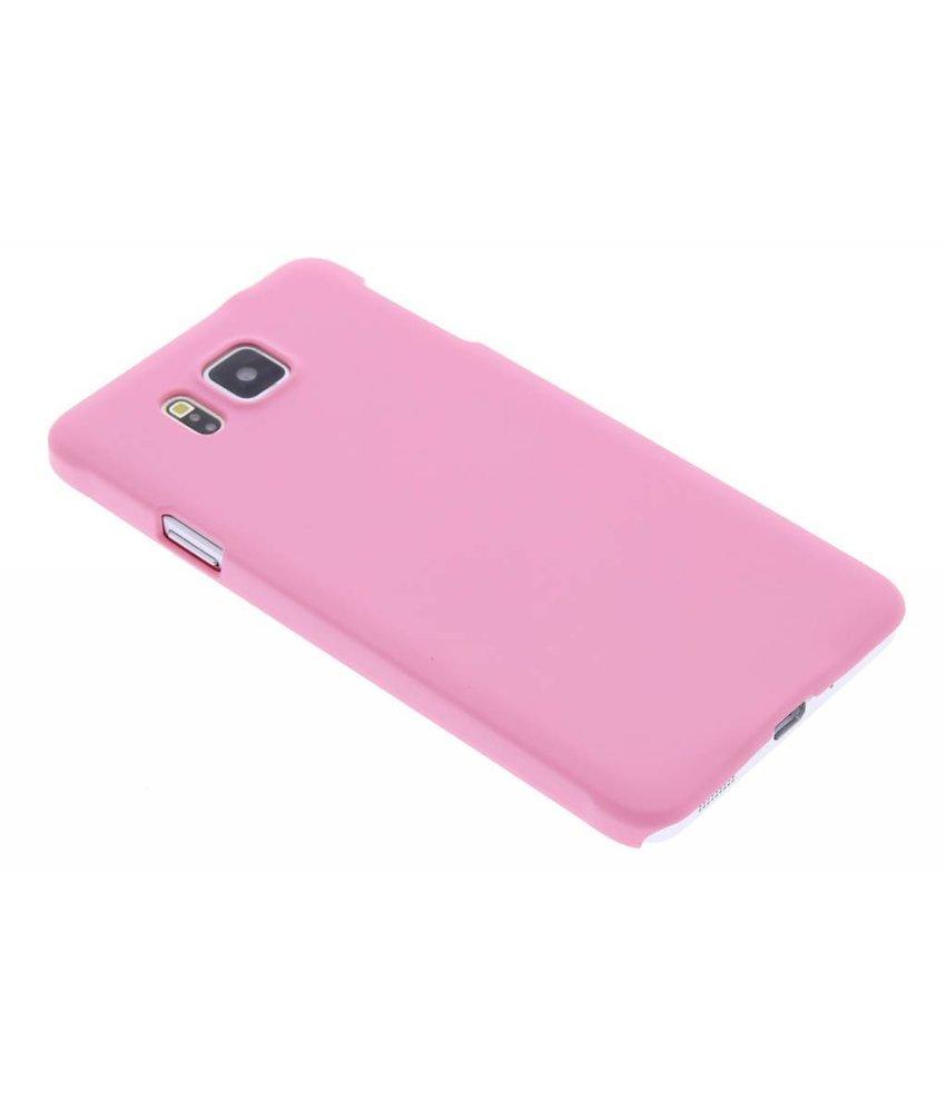 Roze effen hardcase hoesje Samsung Galaxy Alpha