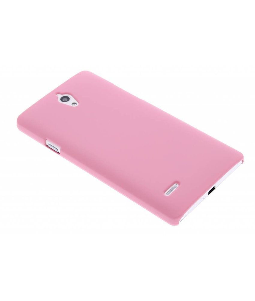 Roze effen hardcase hoesje Huawei Ascend G700