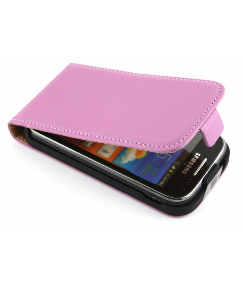 Paars luxe flipcase Samsung Galaxy Ace 2