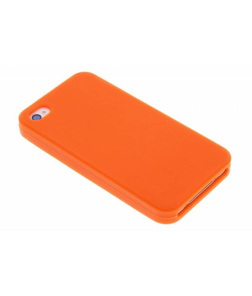 Oranje siliconen hoesje iPhone 4 / 4s