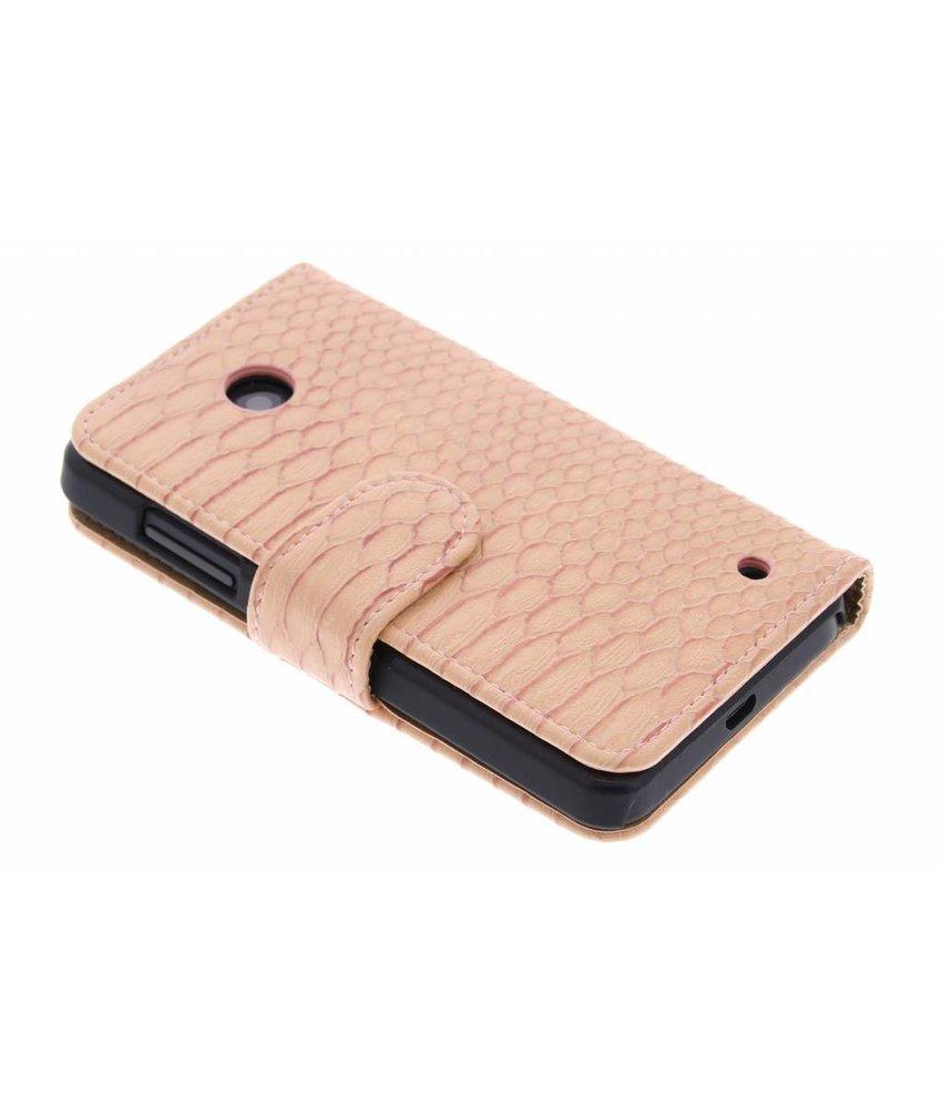 Slangen booktype hoes Nokia Lumia 630 / 635