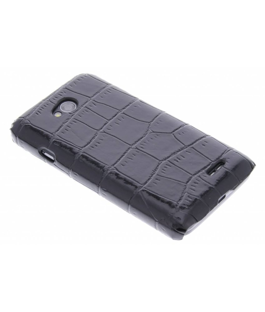 Zwart krokodil design hardcase hoesje LG L70 / L65