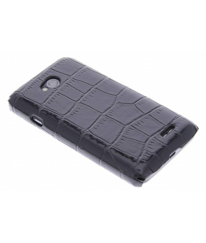 Zwart krokodil design hardcase hoesje LG L70