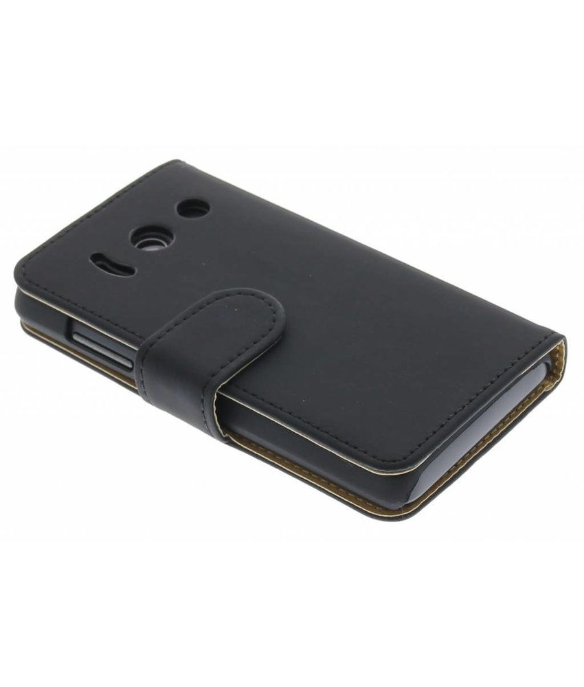 Zwart effen booktype Huawei Ascend Y300