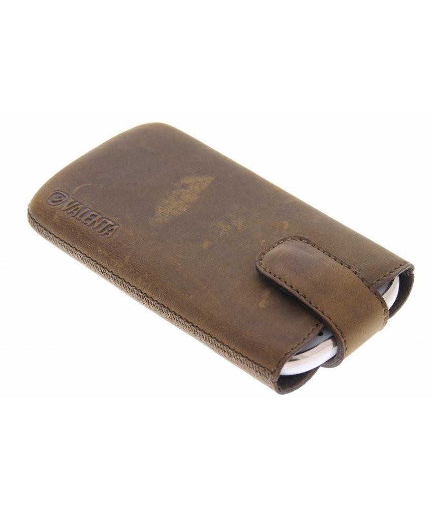 Valenta Pocket Lucca Vintage iPhone 4 / 4s - bruin