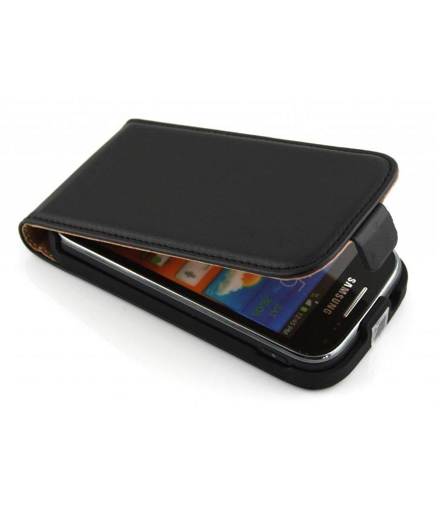 Zwart luxe flipcase Samsung Galaxy Ace 2