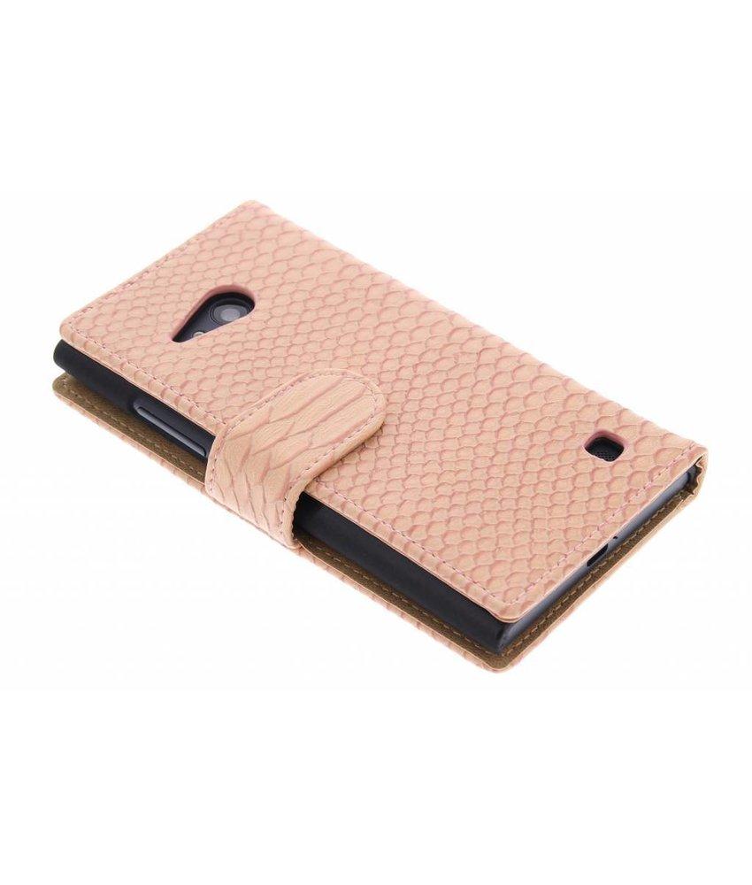 Roze slangen booktype Nokia Lumia 730 / 735