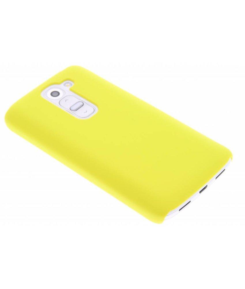 Geel effen hardcase hoesje LG G2 Mini