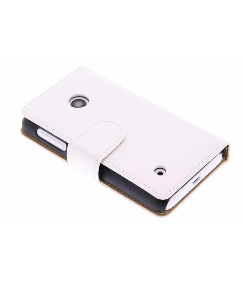 Wit effen booktype hoes Nokia Lumia 530