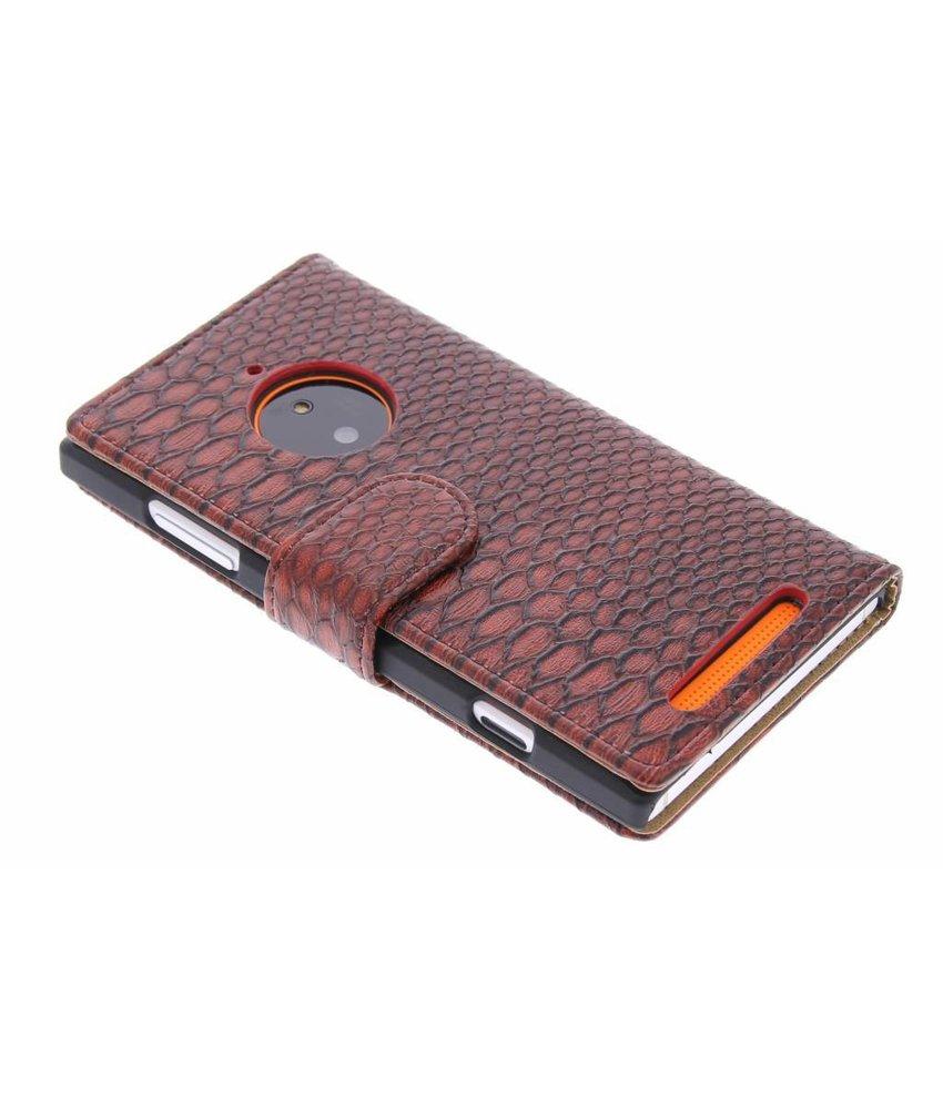 Rood slangen booktype Nokia Lumia 830