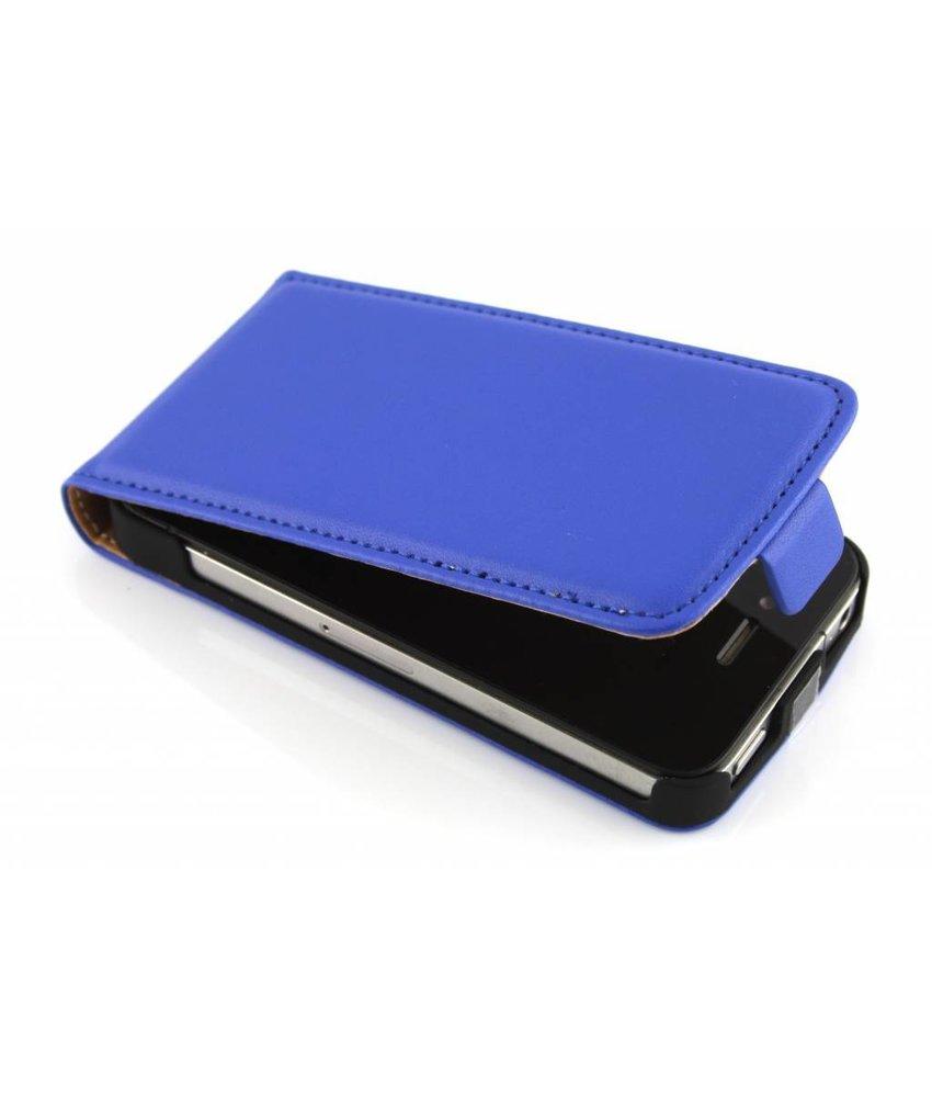 Blauw luxe flipcase iPhone 4 / 4s
