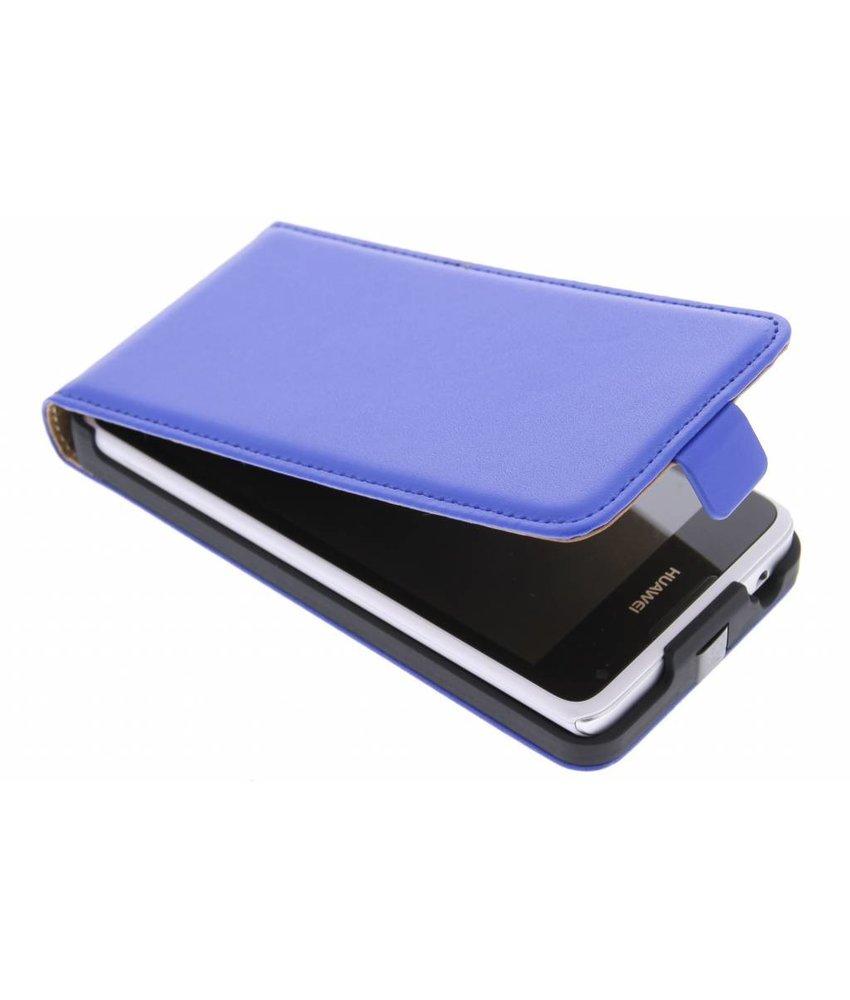 Blauw luxe flipcase Huawei Y530