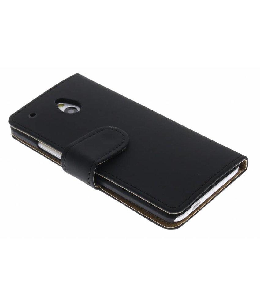 Zwart effen booktype hoes HTC One Mini