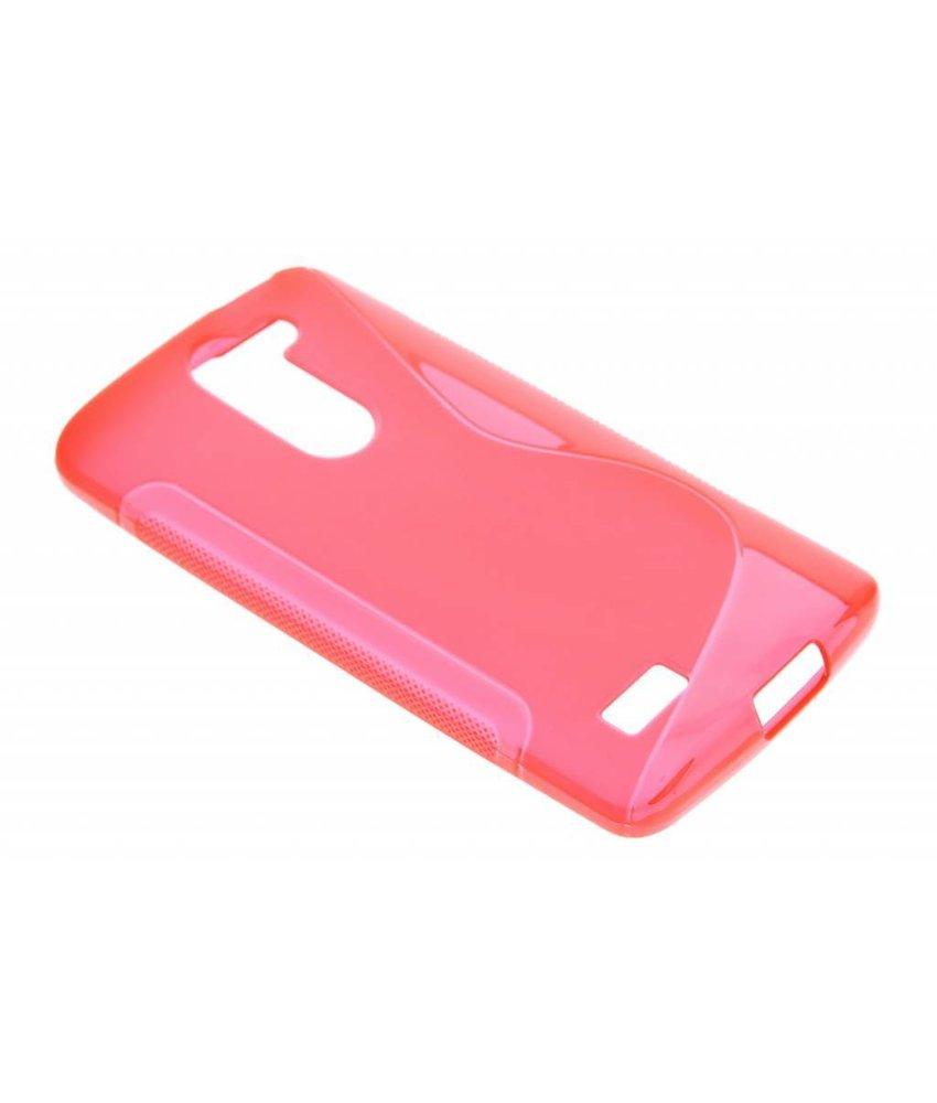 Rood S-line TPU hoesje LG L Bello / L80 Plus