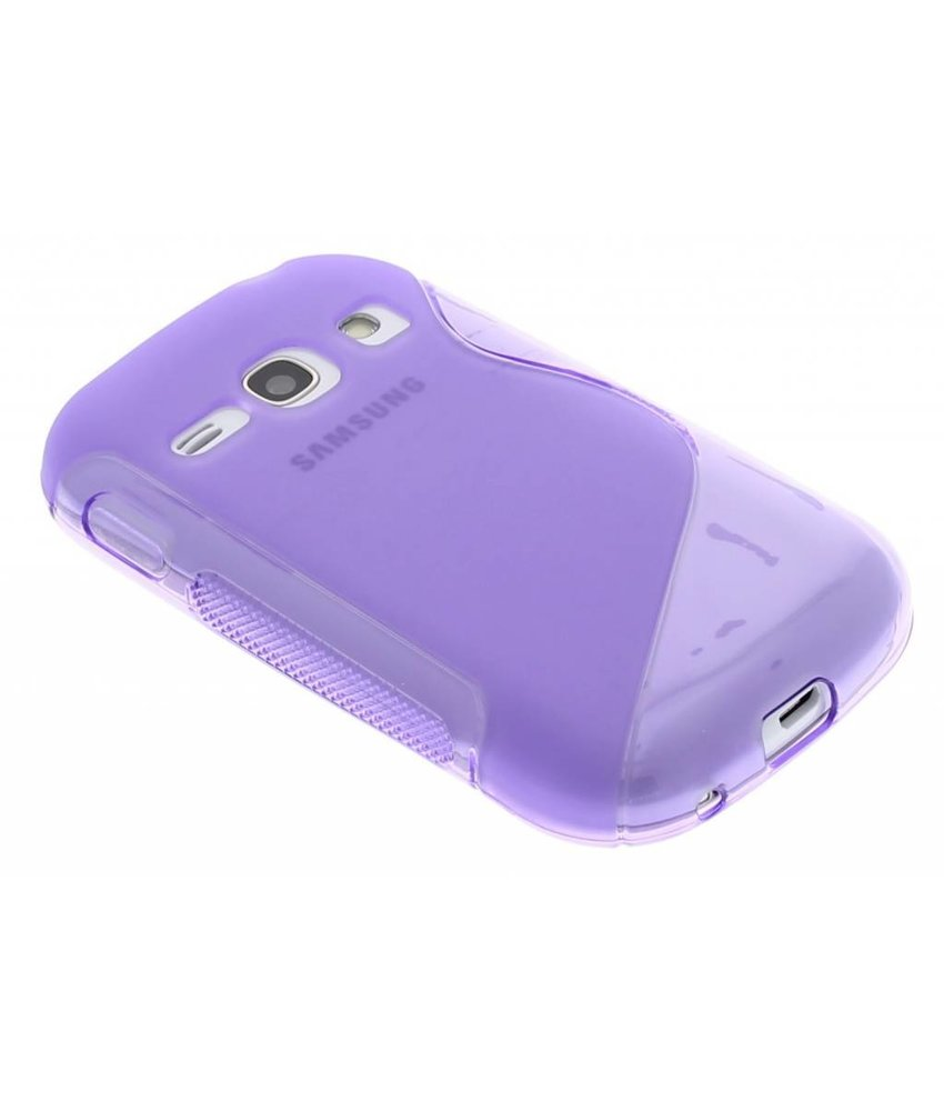 Paars S-line TPU hoesje Samsung Galaxy Fame