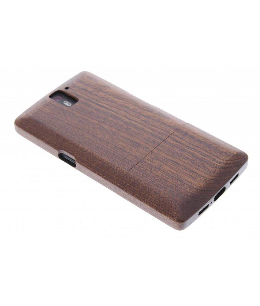 Echt houten hardcase OnePlus One