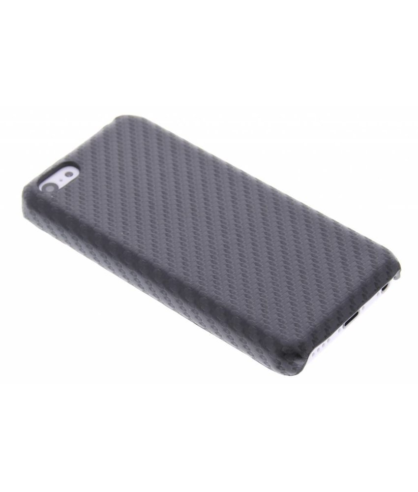 Zwart carbon look hardcase hoesje iPhone 5c