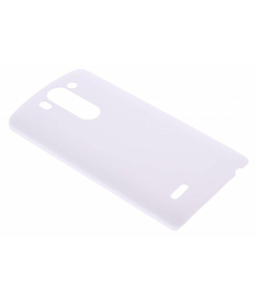 Wit effen hardcase hoesje LG G3 S