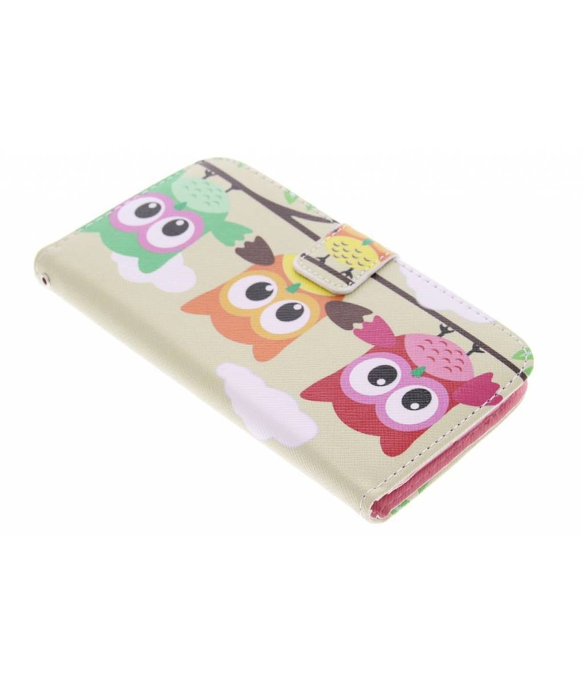 Design TPU booktype hoes HTC One M8 / M8s