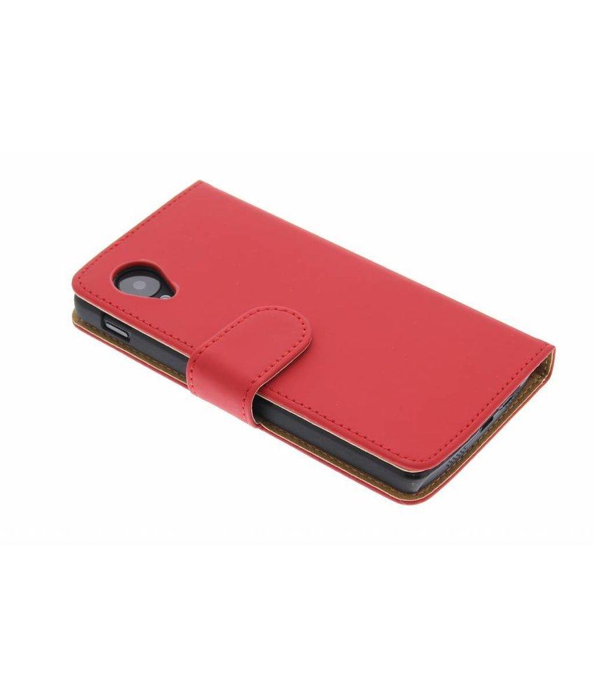 Rood effen booktype hoes LG Nexus 5