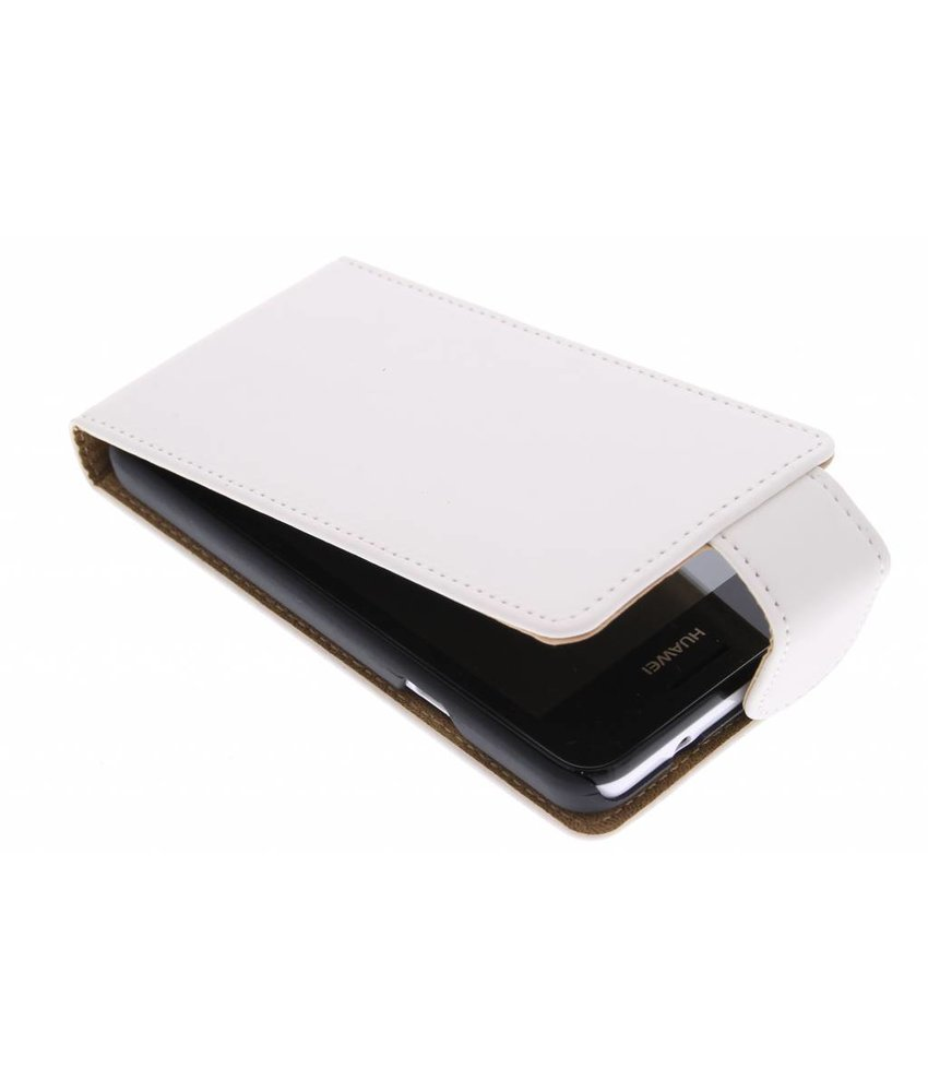 Wit classic flipcase Huawei Ascend Y330