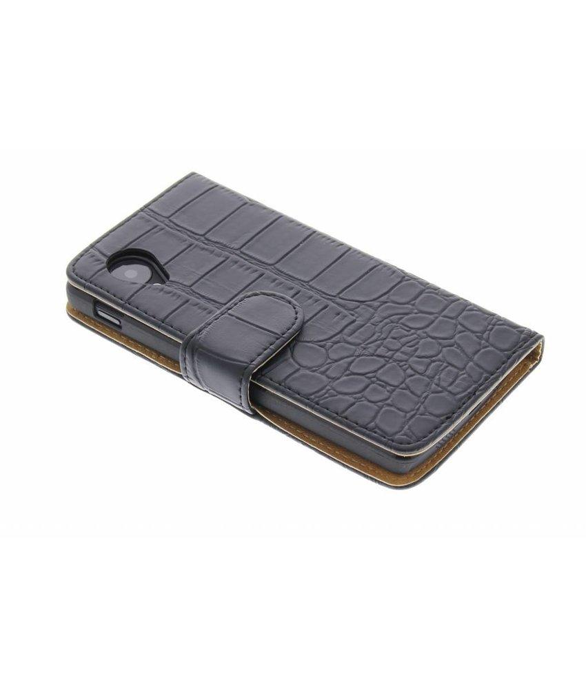 Zwart krokodil booktype hoes LG Nexus 5