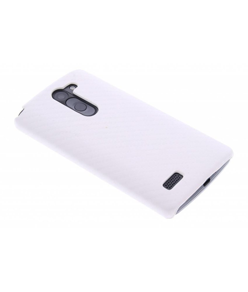 Wit carbon look hardcase hoesje LG L Bello / L80 Plus