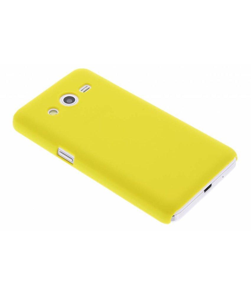 Geel effen hardcase hoesje Samsung Galaxy Core 2