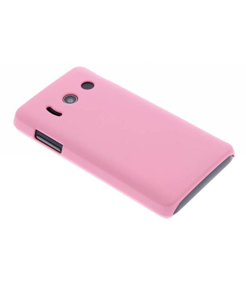 Roze effen hardcase hoesje Huawei Ascend Y300