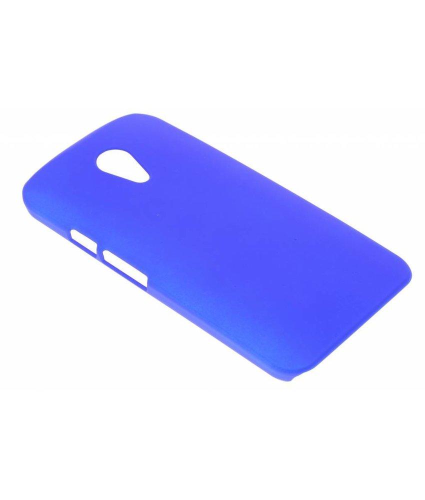 Blauw effen hardcase Motorola Moto G 2nd Gen 2014