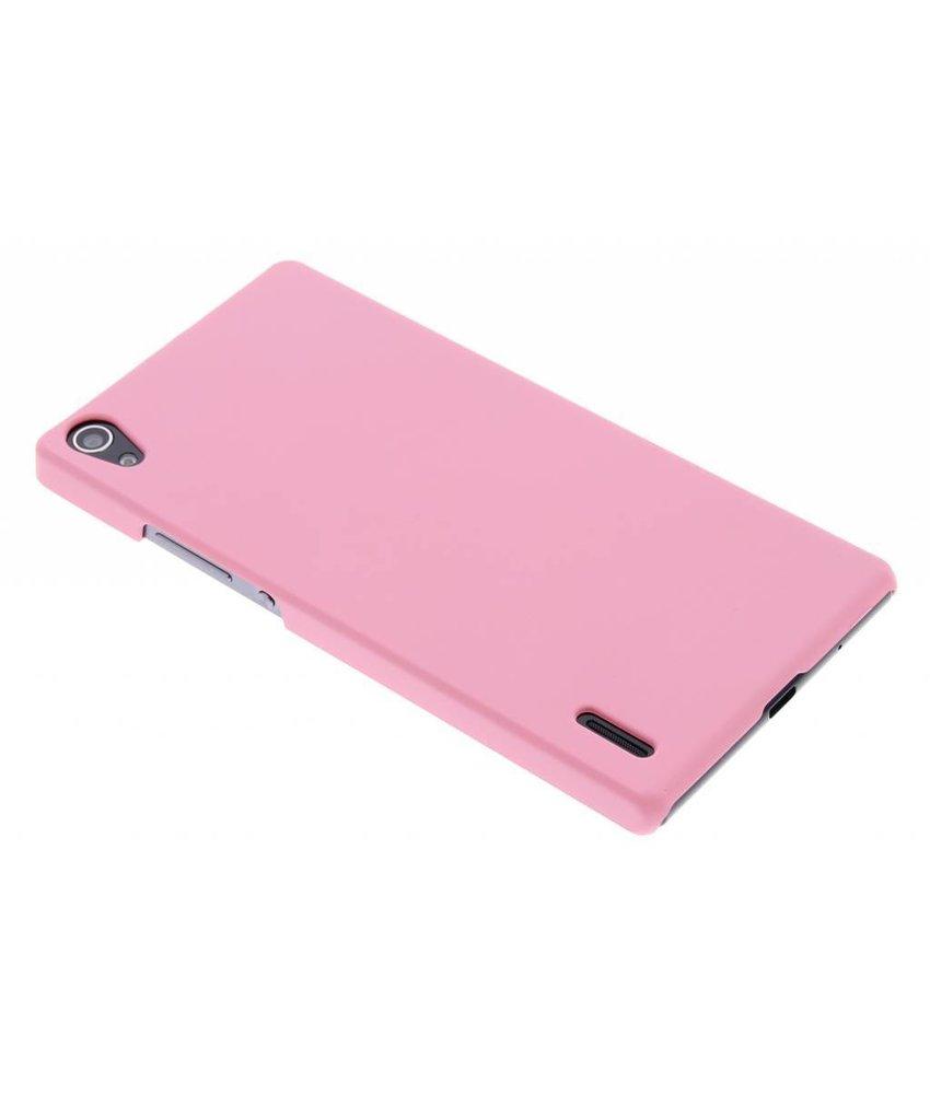 Roze effen hardcase hoesje Huawei Ascend P7