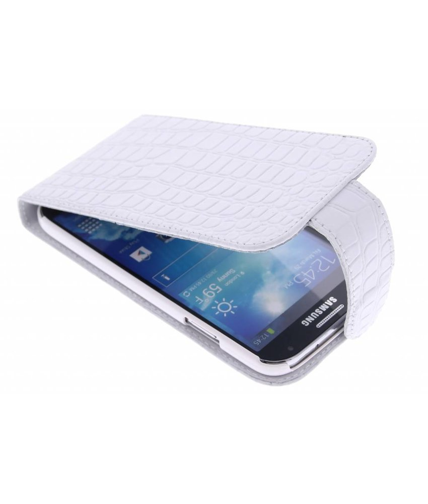 Valenta Flip Classic Croco Samsung Galaxy S4 - wit